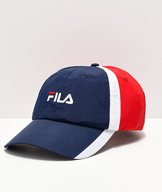 FILA Heritage Red, White & Navy Snapback Hat