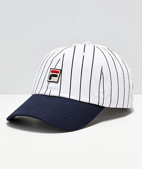 FILA Heritage gorra blanca y azul de rayas ... d2c9ea7c341