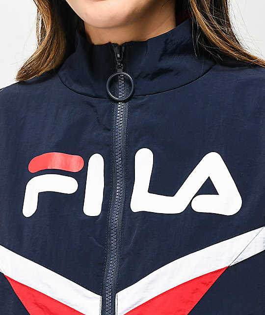 FILA Jolie Navy, White & Red Windbreaker Jacket