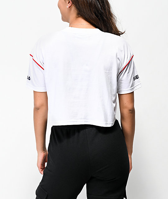 FILA Kana White Crop T-Shirt