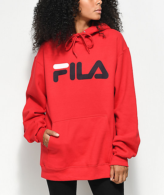 7893f64e FILA Logo Red Hoodie