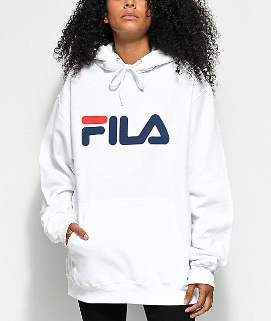 17d18871 FILA Logo White Hoodie