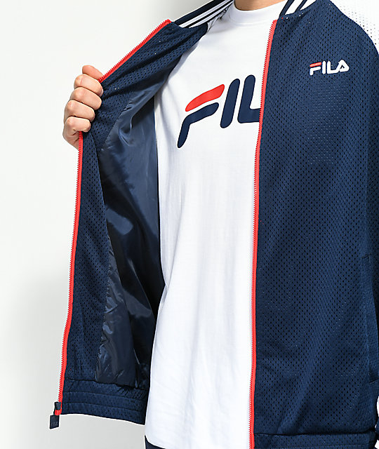 FILA Lucas Peacoat Navy, Red & White Jacket