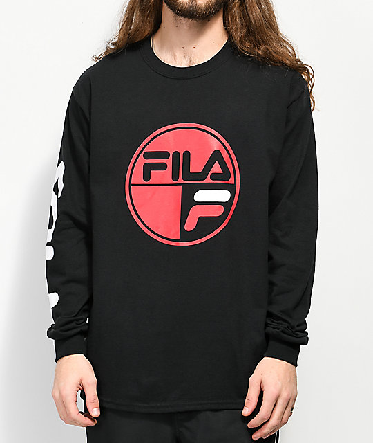 FILA Mariner Black Long Sleeve T-Shirt