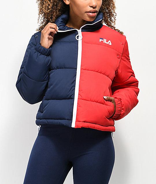 d27cababea77 FILA Martina Snap Sleeve Puffy Jacket