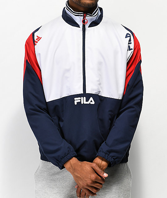 2a8843a1a0fd FILA Marty White   Red Track Jacket