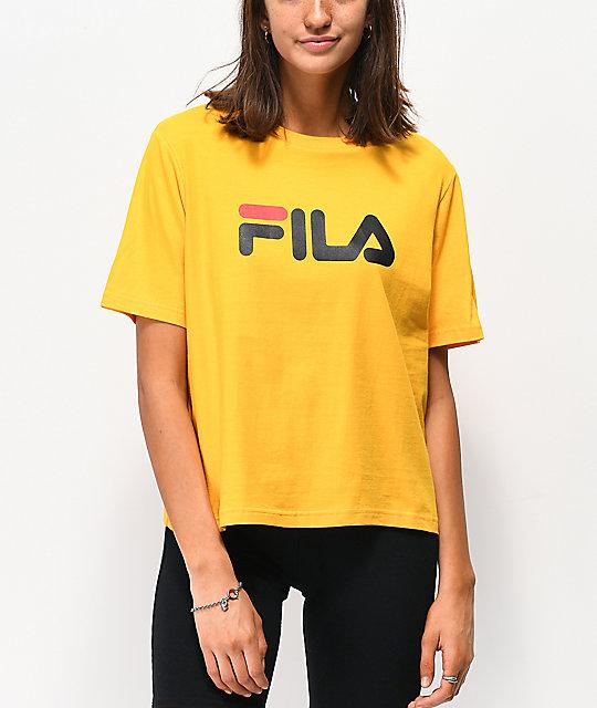 e14925f57 FILA Miss Eagle Gold T-Shirt | Zumiez