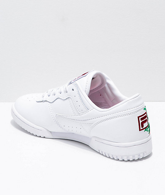 FILA Original Fitness Embroidered White Shoes