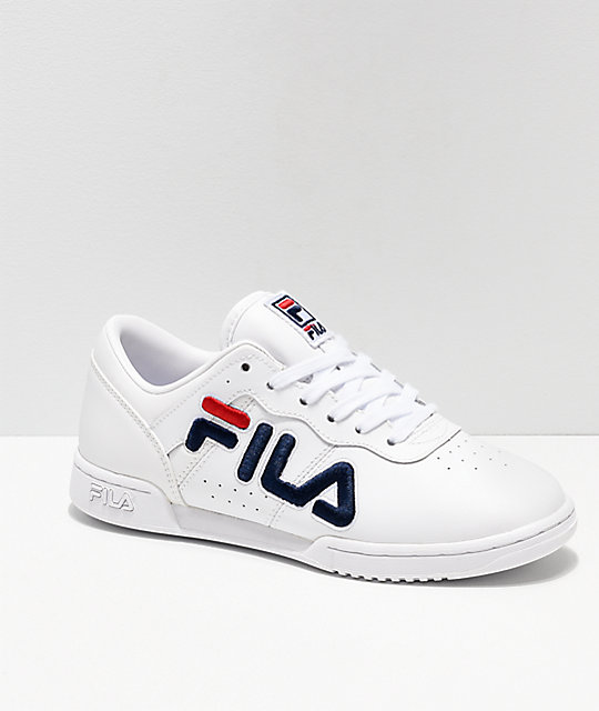 FILA Original Fitness White   Red Shoes  42009882f