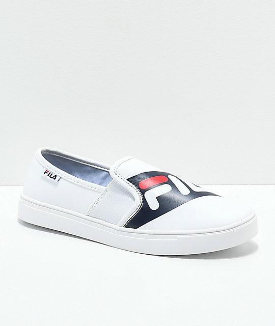 1e4be924d276 FILA Original Logo White Slip-On Shoes