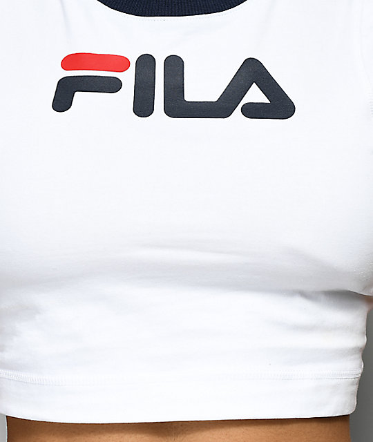 FILA Pia White Crop T-Shirt