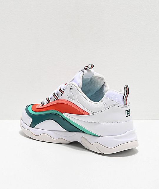 FILA Ray Miami White, Storm & Cherry Tomato Shoes