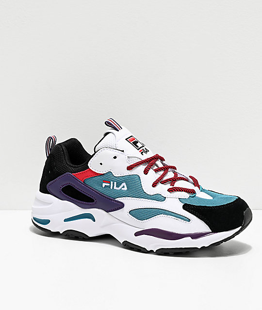 FILA Ray Tracer Harbor Blue, White & Black Shoes