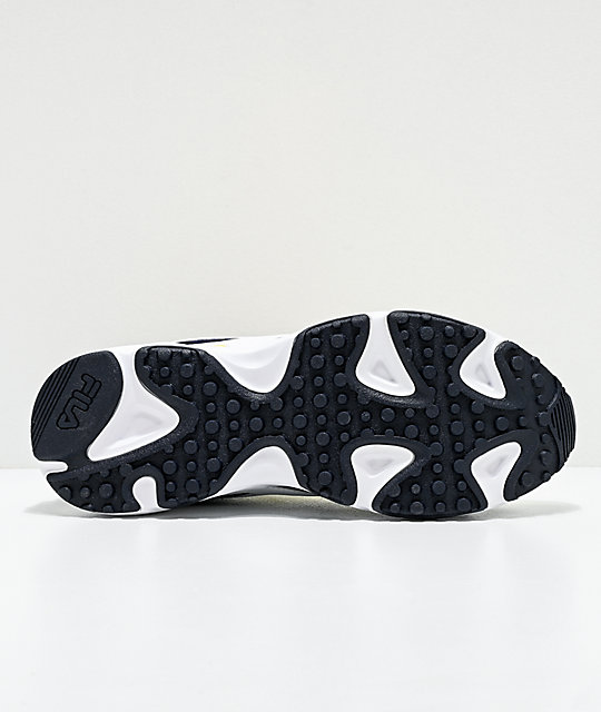 FILA Ray Tracer Lemonade, White & Black Shoes