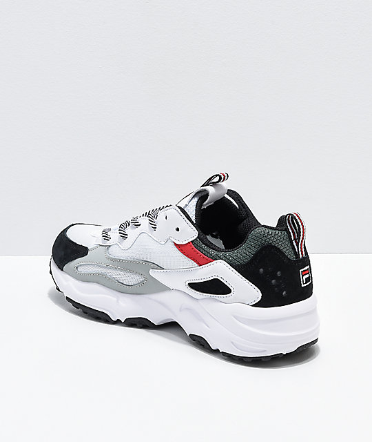 FILA Ray Tracer White, Grey & Red Shoes