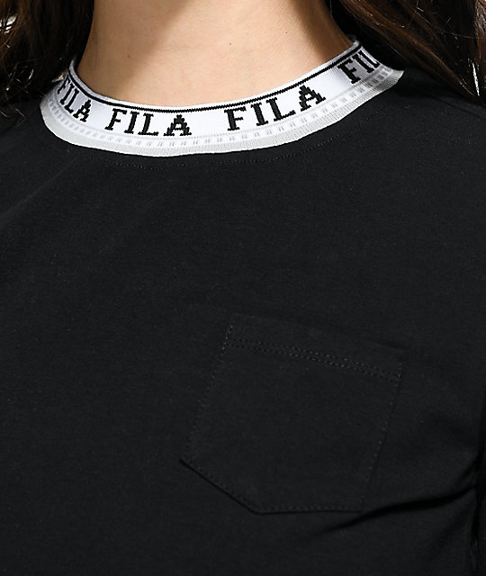 FILA Rebecca Black Long Sleeve Crop Top
