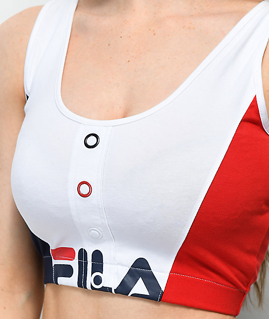 FILA Red, White & Blue Crop Tank Top