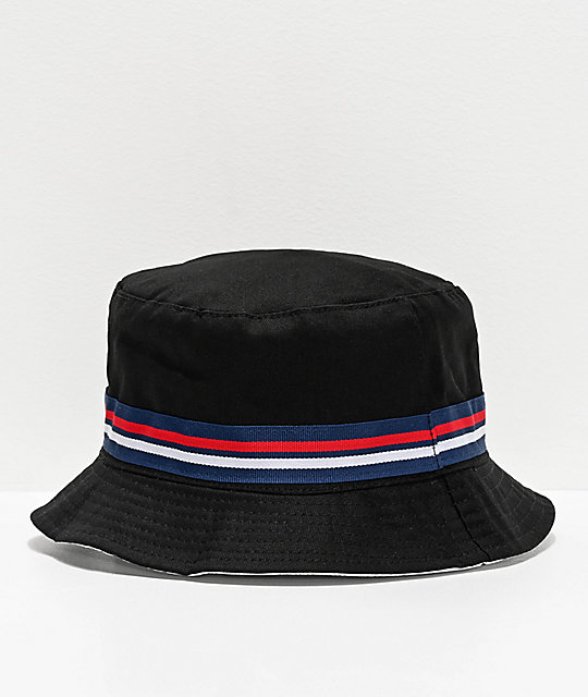 FILA Reversible Black Bucket Hat