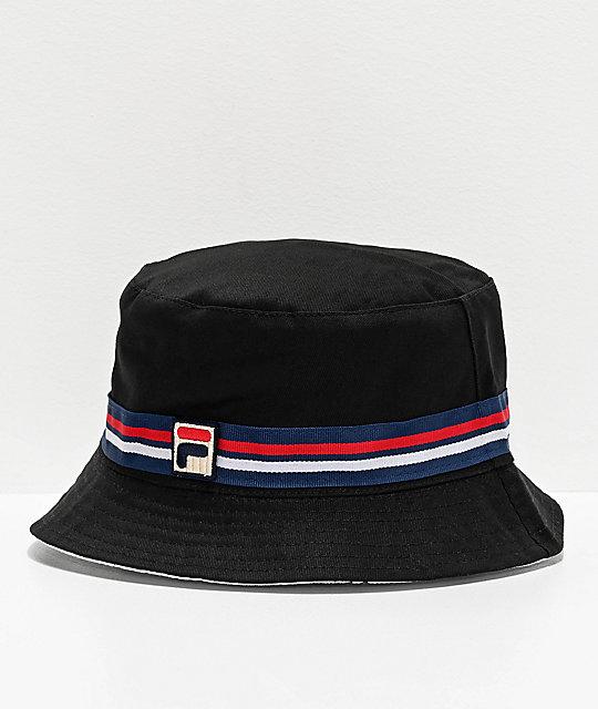 szczegóły dla 50% zniżki najlepsze ceny FILA Reversible Black Bucket Hat