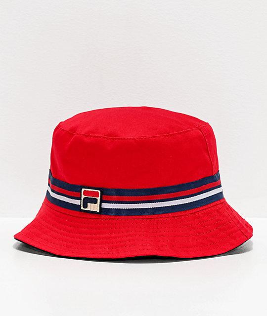 najlepszy dostawca amazonka strona internetowa ze zniżką FILA Reversible Red Bucket Hat