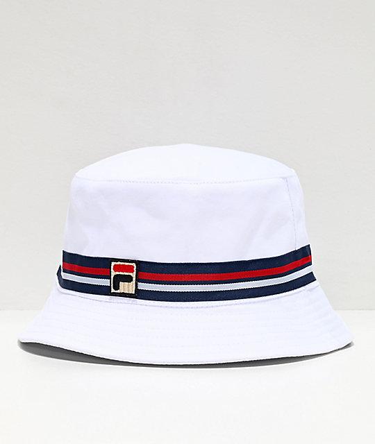 ceny detaliczne Data wydania tanie z rabatem FILA Reversible White Bucket Hat