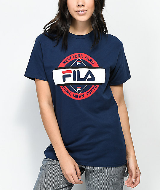3357ea1d FILA Seal Navy T-Shirt