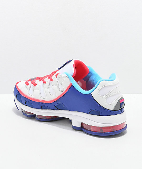 FILA Silva Trainer White, Pink & Blue Shoes