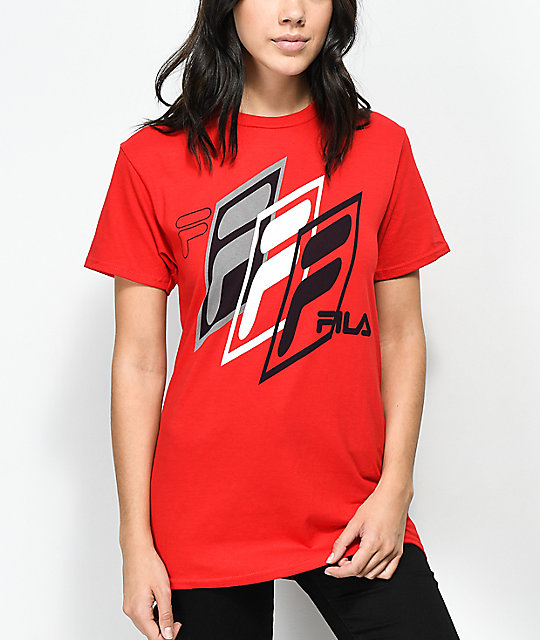 FILA Skew Red T-Shirt