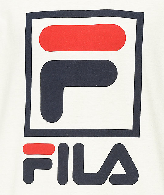FILA Stacked Gardenia camiseta