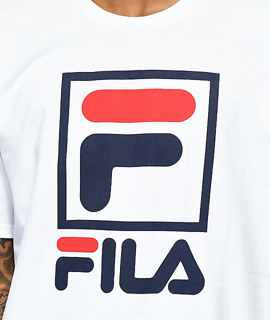 FILA Stacked White T-Shirt