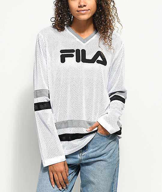 FILA Tanya White Mesh Long Sleeve Hockey Jersey