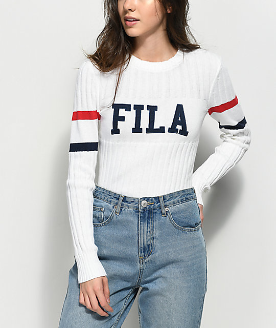 95348eb7 FILA Toni White Sweater