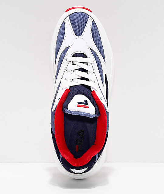 FILA V94M Red, White & Blue Shoes