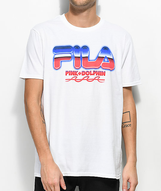 FILA x Pink Dolphin Chrome White T-Shirt