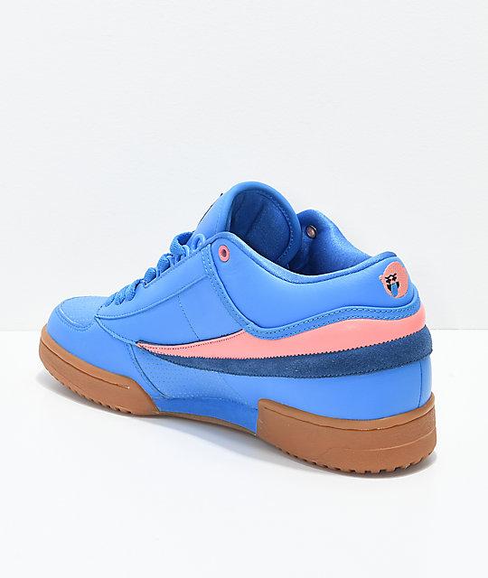 4e811784e067 ... FILA x Pink Dolphin T1 Mid Blue   Gum Shoes ...