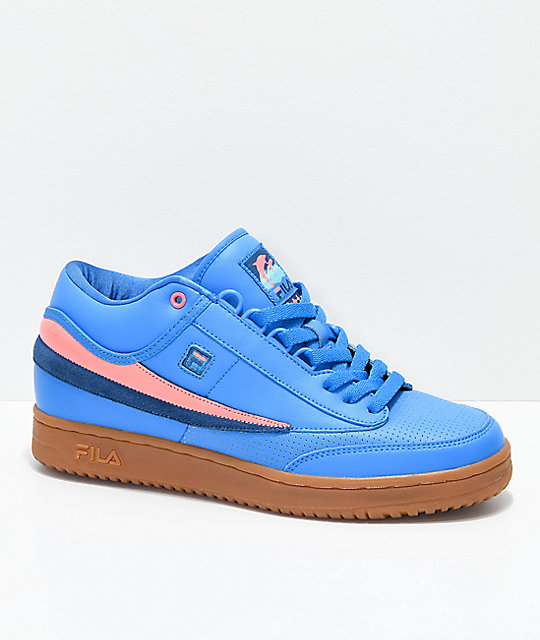 FILA x Pink Dolphin T1 Mid Blue & Gum Shoes