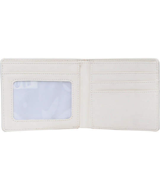 FMF Debossed White Bifold Wallet