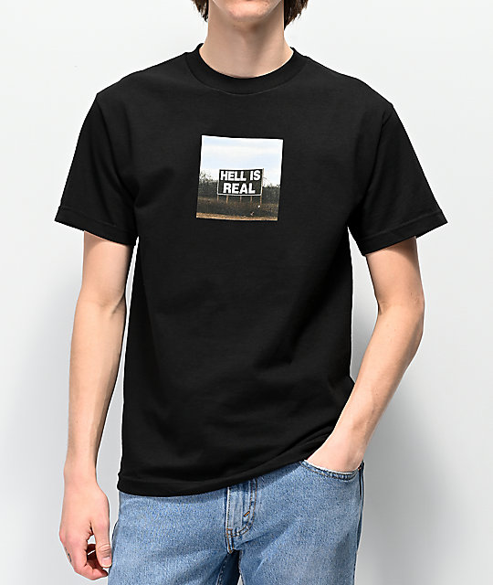 FRESHHELL It's Real Black T-Shirt