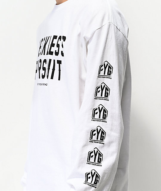FYG Reckless Pursuit White Long Sleeve T-Shirt
