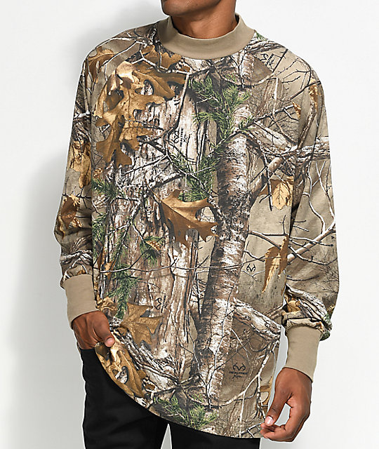 Fairplay Branch Realtree camiseta de cuello simulacro