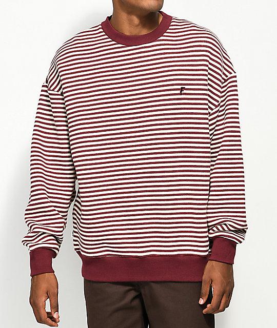 Fairplay Chor Maroon Stripe Crew Neck Sweatshirt ...