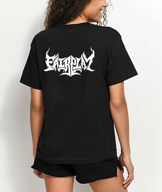Fairplay Flame Black T-Shirt