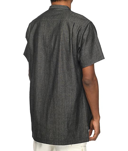3b8c11db58f Fairplay-Harshel-Denim-Chambray-Black-Indigo-Short-Sleeve-Button-Up-Shirt- 274999-alt1-US.jpg