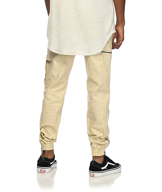 Fairplay Ike pantalones joggers cargos en color natural
