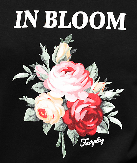 Fairplay In Bloom Black T-Shirt