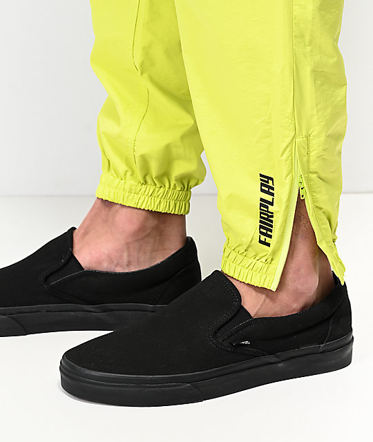 Fairplay Rak Neon Green Track Pants