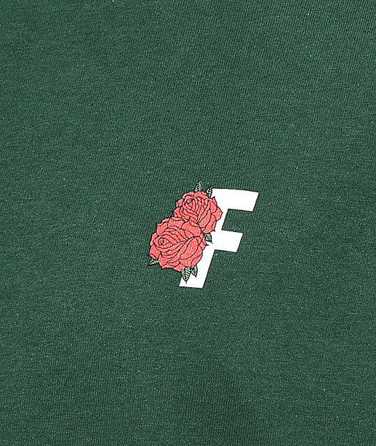 Fairplay Roses camiseta en verde de bosque