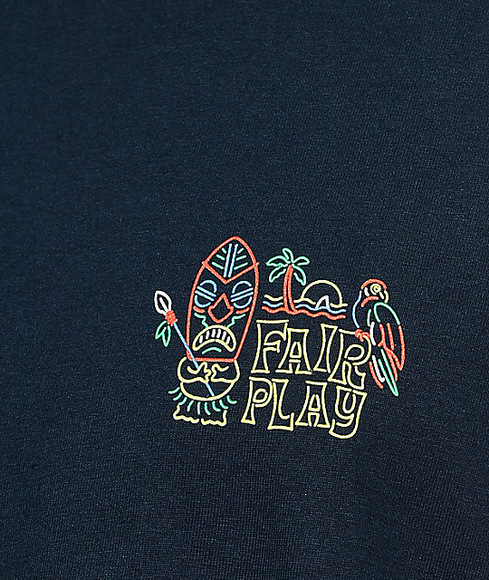 Fairplay Tiki Navy T-Shirt