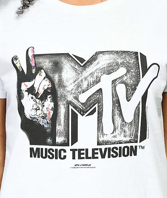 Fairplay x MTV Stop Hate White T-Shirt