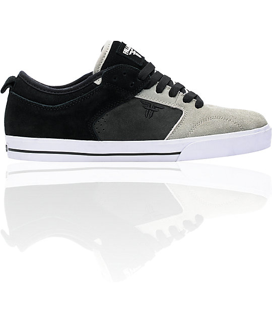 Fallen Clipper Black & Grey Suede Skate Shoes